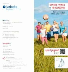 thumbnail of Flyer Starke Famile in Bewegung